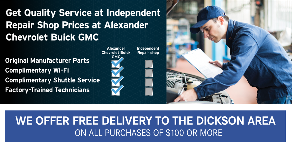 Get Quality Service at Independent Repair Shop Prices at Alexander Chevrolet Buick GMC