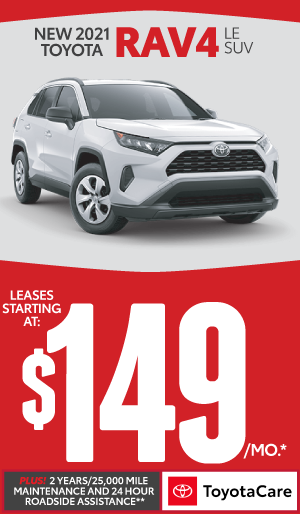 2020 toyota RAV4 lease starting at $149 per month - click here to view inventory