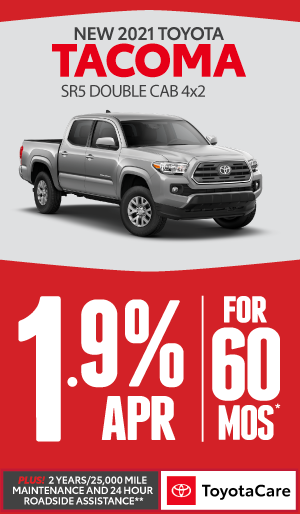 2020 toyota Tacoma 1.9% APR offer for 60 months - click here to view inventory