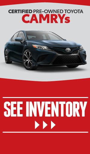 Certified Pre-owned Toyota Camrys - click here to view inventory