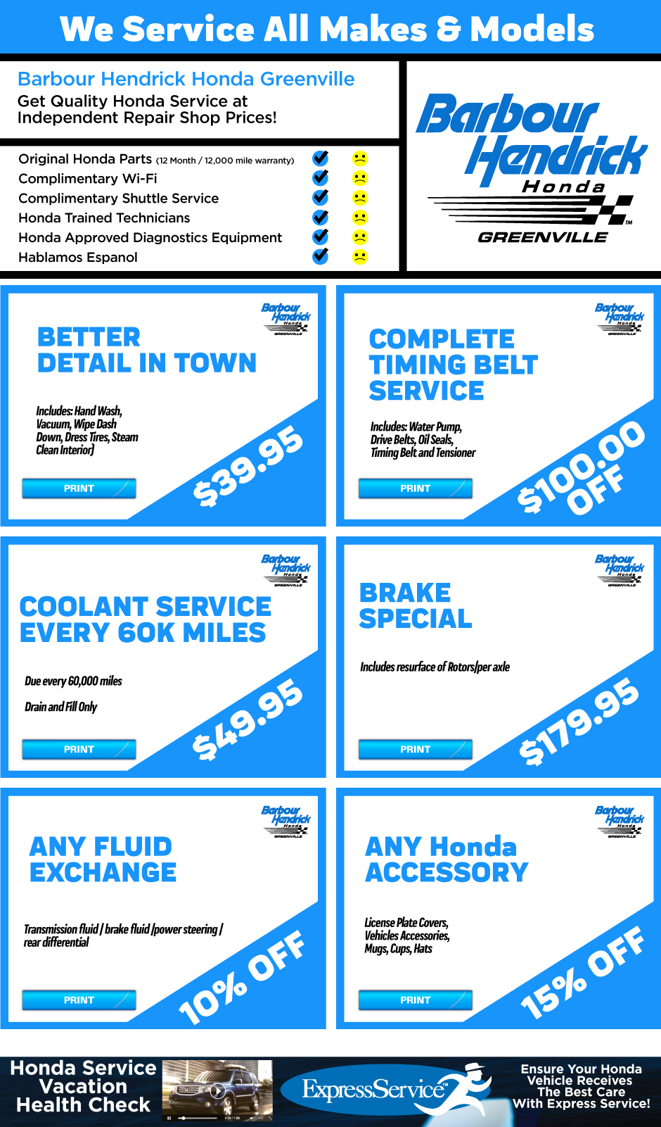 barbour hendrick honda service coupons