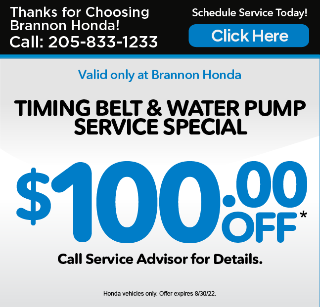 TIMING BELT AND WATER PUMP SERVICE SPECIAL, $80 OFF*