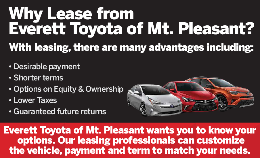 Why Lease from James Hodge Toyota? These are so many advantages including: desirable payment, shorter terms, options on equity & ownership, lower taxes, guaranteed future returns