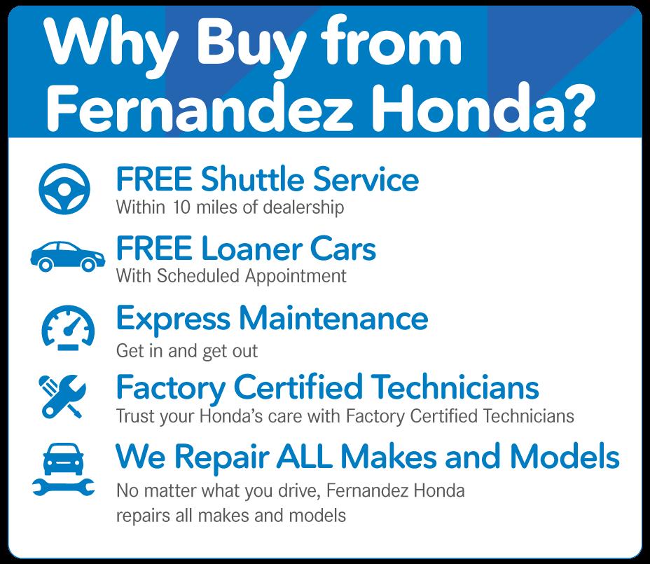 Fernandez honda service coupons