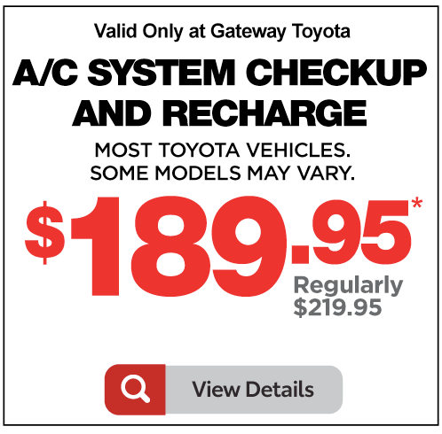 Gateway Toyota Service Special Breath Easy Filter Special $159.95 plus tax. Click for details.