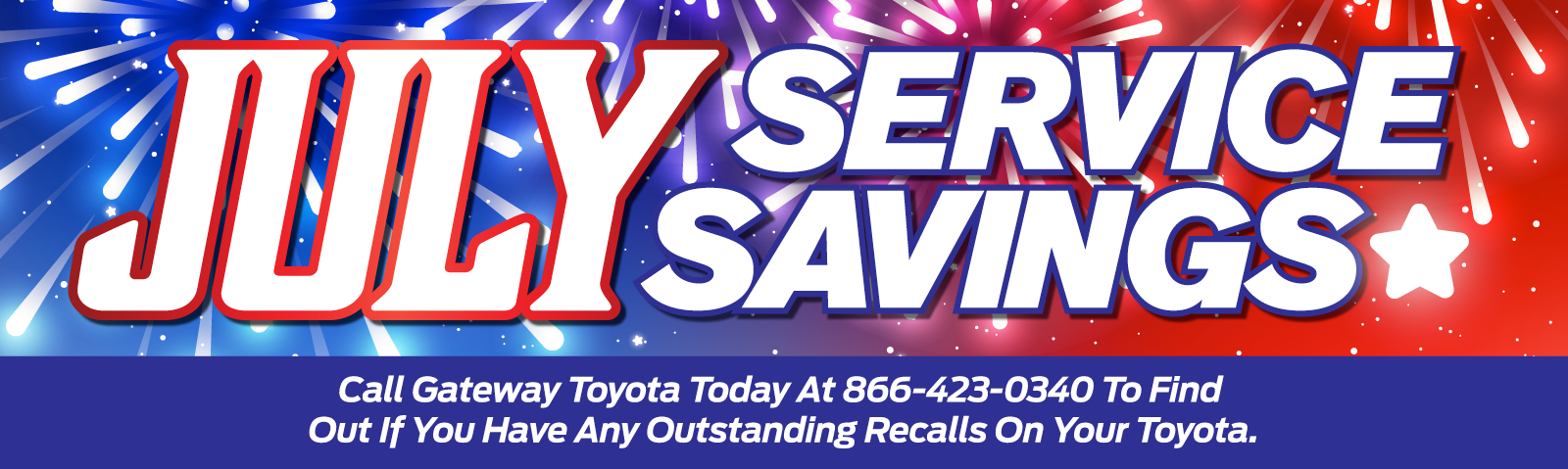 Call Gateway Toyota Today At 866-423-0340 To Find Out If You Have Any Outstanding Recalls On Your Toyota.