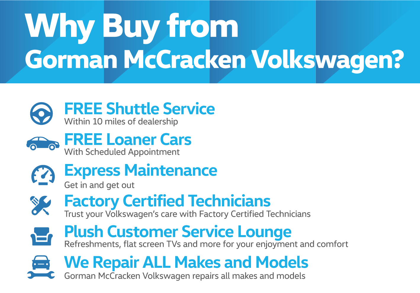 Why Buy from Gorman McCracken Volkswagen