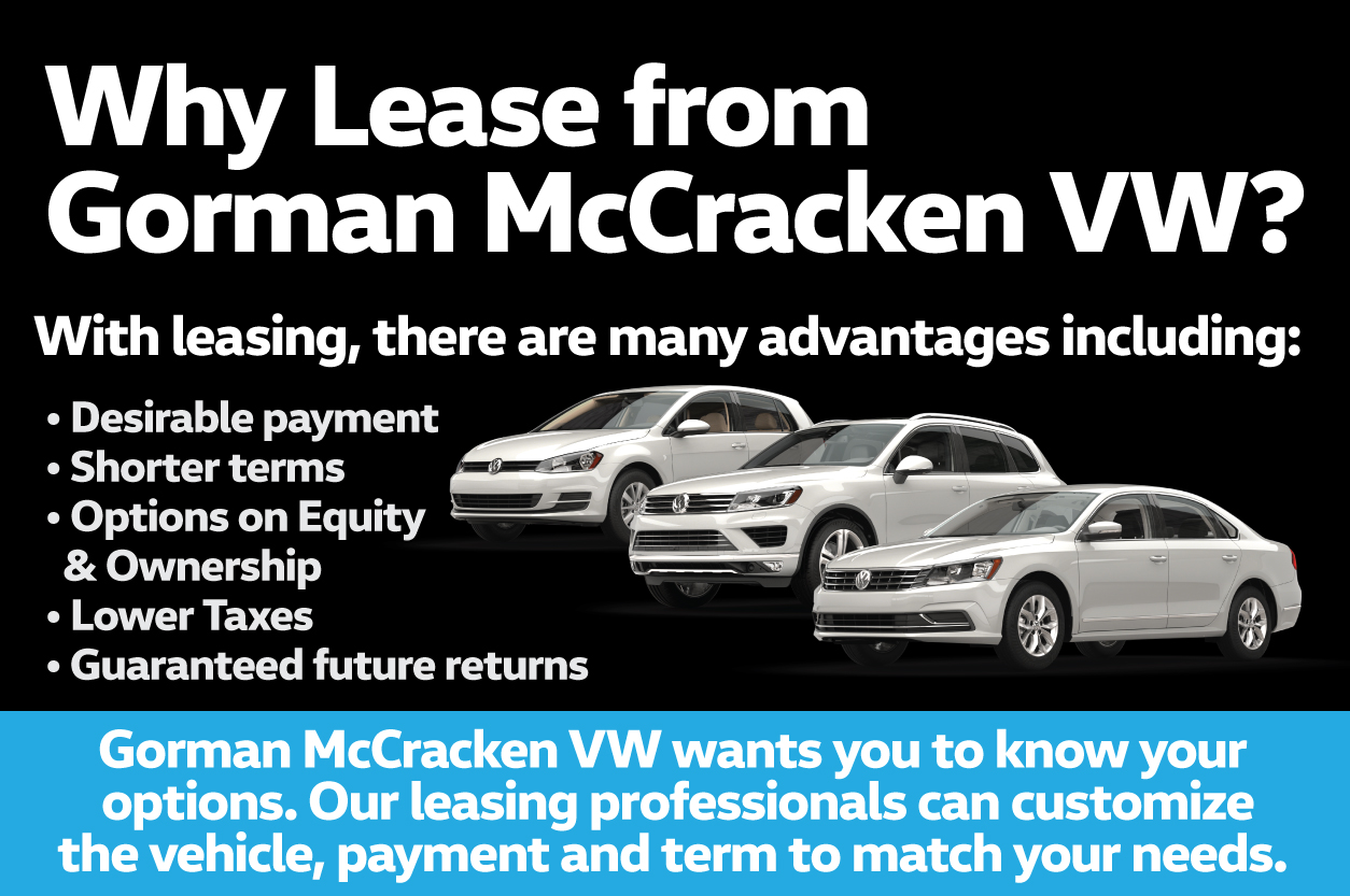 Why Lease from Gorman McCracken Volkswagen