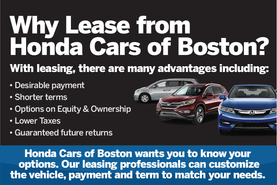 Honda Lease Options near Boston, MA