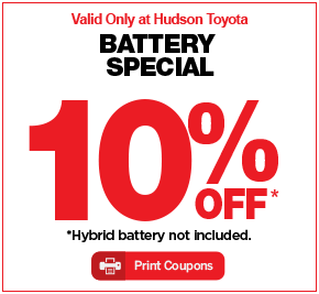 Toyota Oil Change Coupon >> Hudson Toyota Service Specials Hudson Toyota
