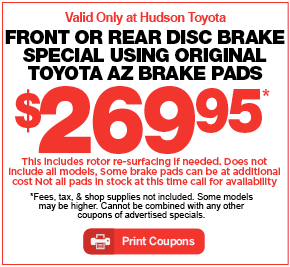 Hudson Toyota Service Special