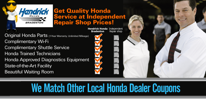 Get Quality Honda Service at Independent Repair Shop Prices at Hendrick Honda Bradenton