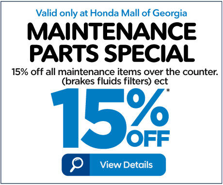Maintenance Parts Special - 15% off - Click to View Details