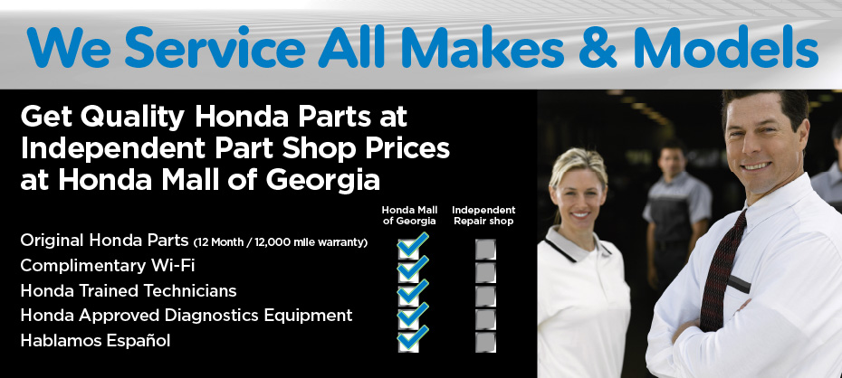 Get Quality Honda Parts at Independent Part Shop Prices at Honda Mall of Georgia
