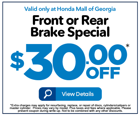 Front or Rear Brake Special - $30 off - Click to View Details