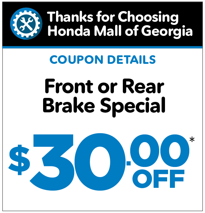 Front or Rear Brake Special - $30 off