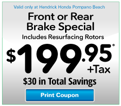 Front Or Rear Brake Specials · Brake Fluid Exchange Service Special