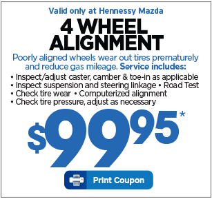 *Valid Only At Hennessy Mazda. Service Special Excludes Oil Changes And  Tires. Wipers Sold Per Pair. Plus Applicable Taxes. Cannot Be Used With Any  Other ...