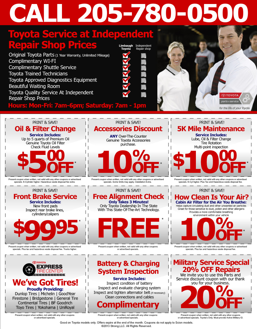 Service coupons toyota