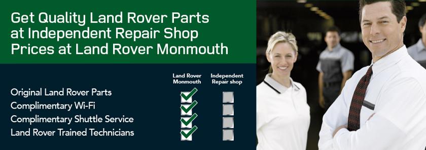 Land Rover Parts Chart