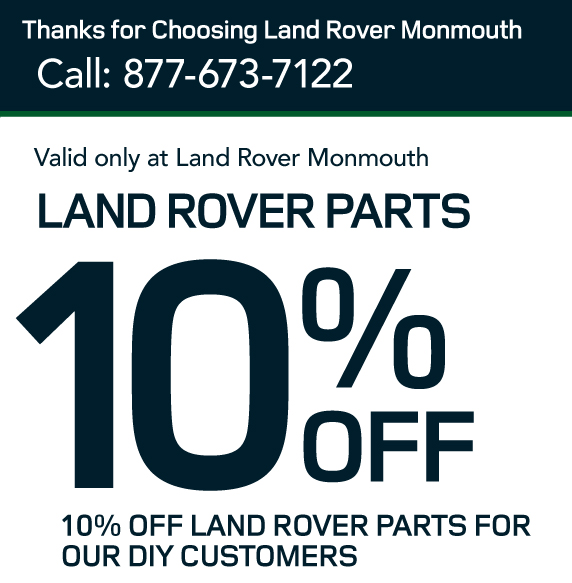 10% off land rover parts