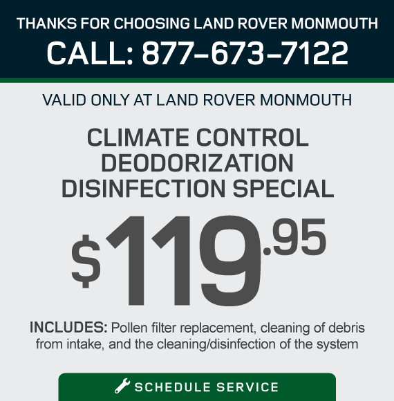 Climate Control Deoderization Disinfection Special. $119.95. Includes: Pollen filter replacement, cleaning of debris from intake, and the cleaning disinfection of the system. Schedule Service.