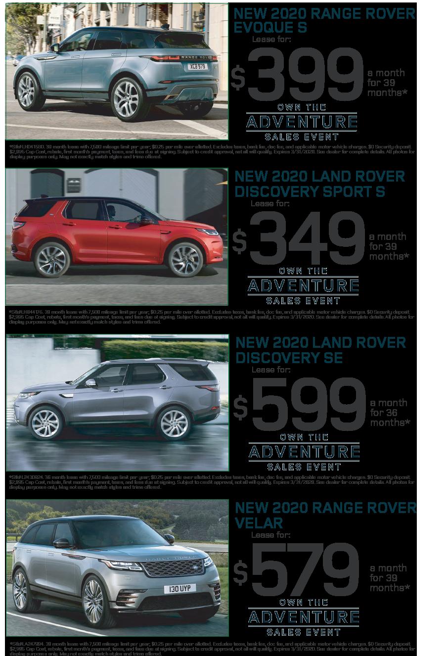 2017 Range Rover Sport Hse Lease Deals