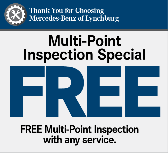 Thank You for Choosing Mercedes-Benz of Lynchburg. B Service Special 20% OFF*. Includes: Service at 20,000 miles or 2 years, synthetic motor oil replacement, oil filter replacement, cabin dust/combination filter replacement, all fluid level checks & corrections (dependent on factory-recommended service intervals for your vehicle's year/model), tire inflation check & correction, reset maintenance counter, brake component Inspection and brake fluid exchange. Maimum dsicount of $100.00.