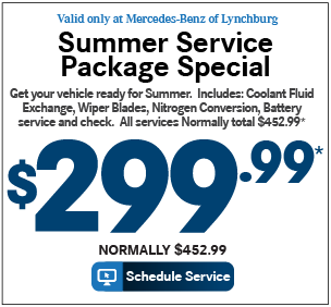 Valid only at Mercedes-Benz of Lynchburg.ALIGN-ROTATE-BALANCE TIRE SPECIAL-Now Only: $199.99* Normally $279.99. Print Coupon.