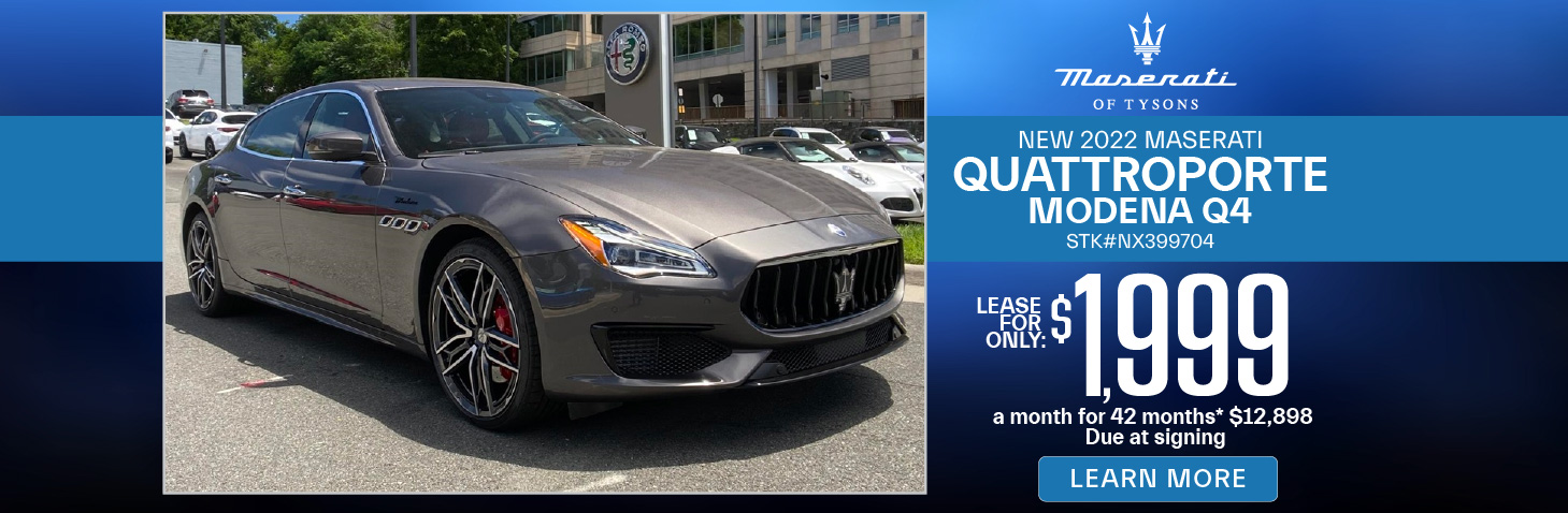 New 2020 Maserati Quattroporte | Lease for only $999 | Learn More