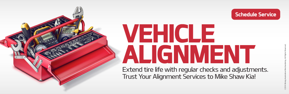 Vehicle Alignment.Extend tire life with regular checks and adjustments. Trust Your Alignment Services to Mike Shaw Kia!