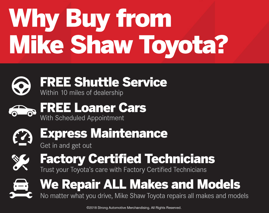 Why Buy from Mike Shaw Toyota