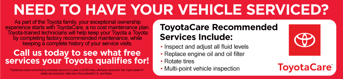 Miller Toyota's Common-Sense Service solutions for uncommon times