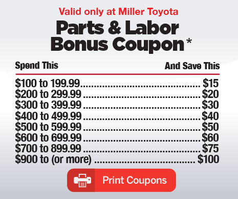 Toyota parts discount coupon
