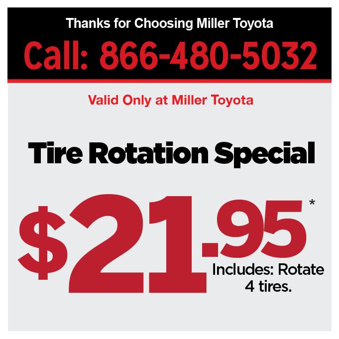 Service Specials 1 Miller Toyota