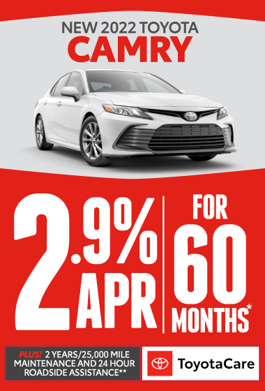 2021 Toyota Camry - 0% APR for 72 months