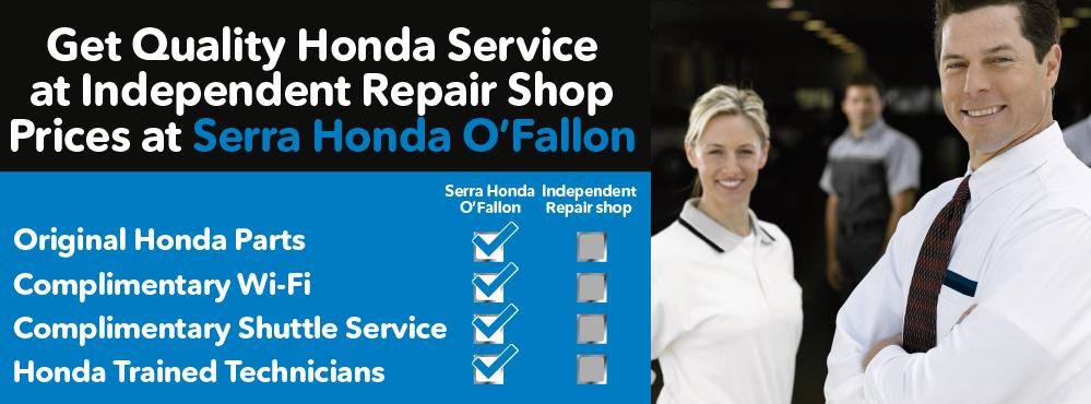 Service Your Vehicle With Serra Honda Ou0027Fallon