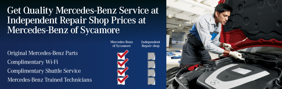 Get Quality Service at Independent Repair Shop Prices at Mercedes-Benz of Sycamore