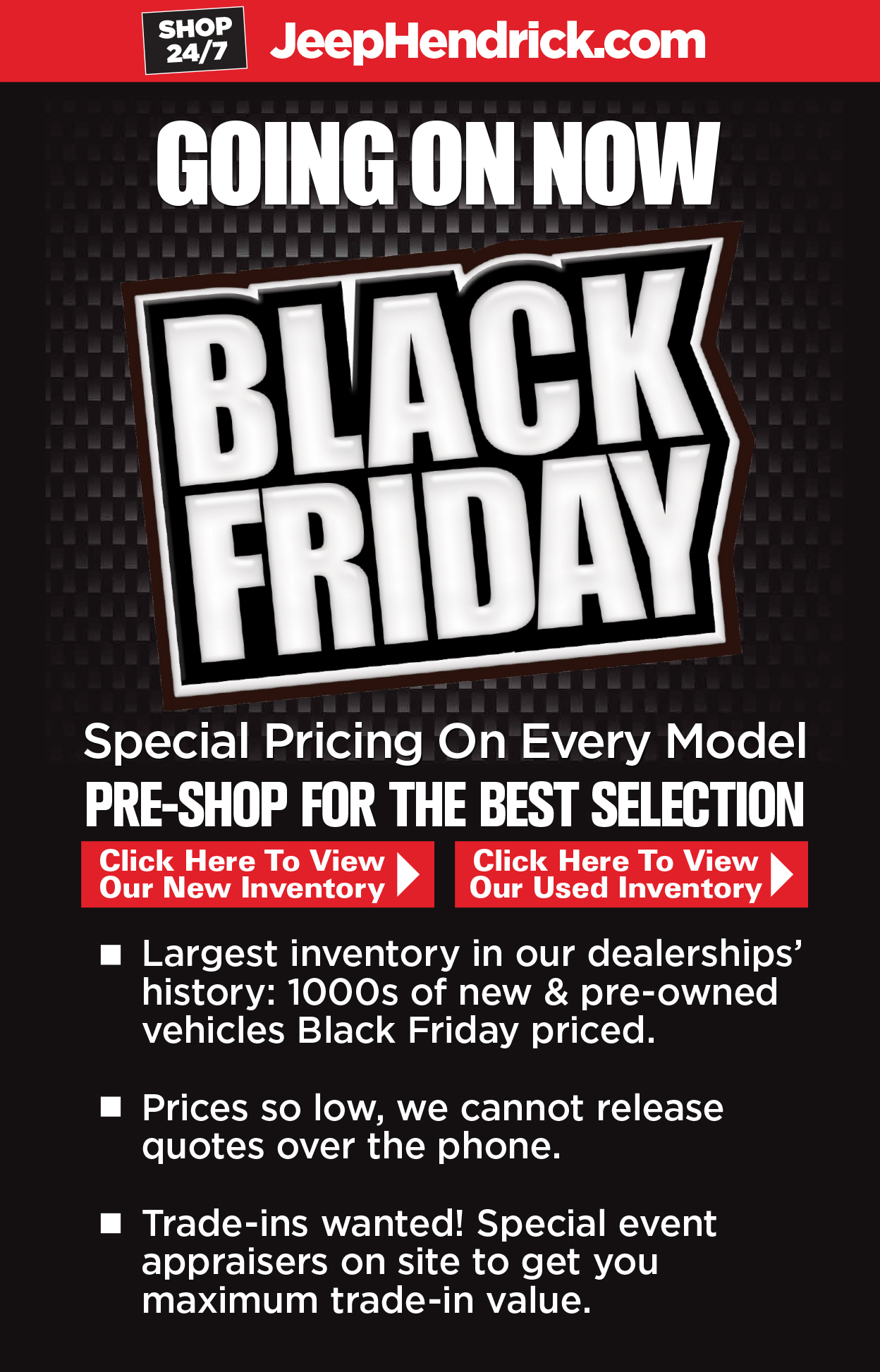 Black Friday Sales Event | Rick Hendrick Jeep Chrysler Dodge ...