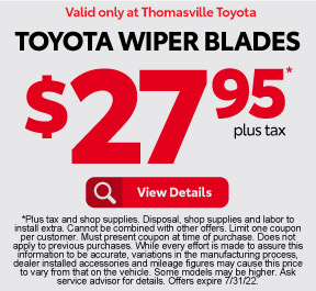 FREE Toyota Wipers Installation - Click to View Details
