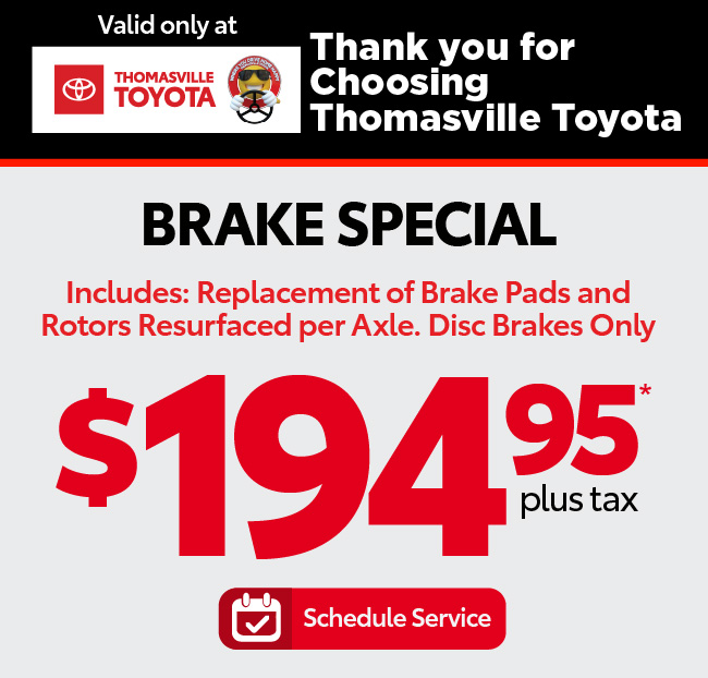 Brake Special - $194.95 - Click to Schedule Service