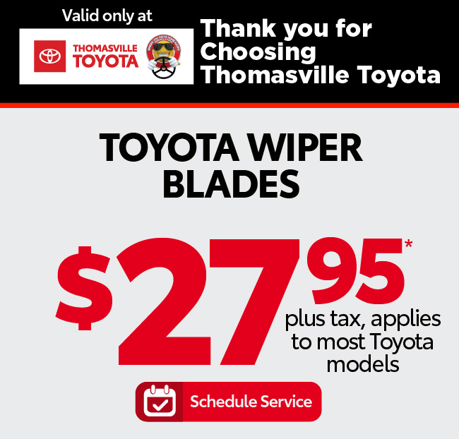 Toyota Wipers Installation - Starting at $27.95 - Click to Schedule Service