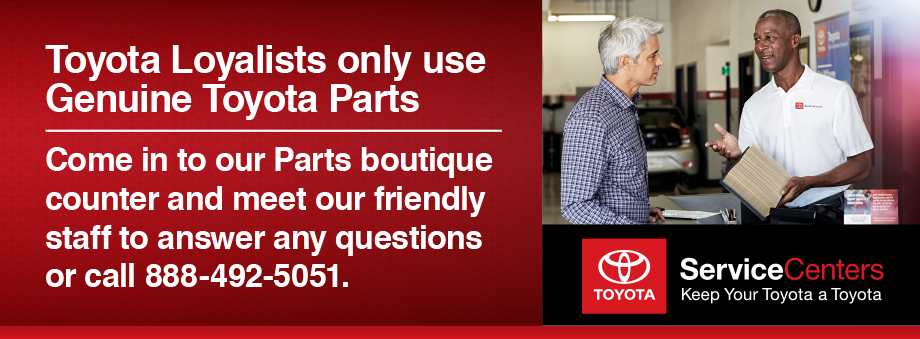 Get Quality Toyota Parts at Independent Repair Shop Prices at Toyota of Plano