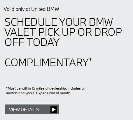Valid only at United BMW: Oil Service $99.95. DIESEL, V8, AND