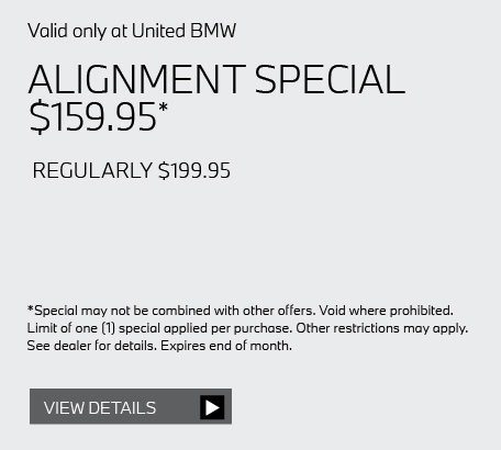 Valid only at United BMW: BATTERY INSTALLATION $75 OFF*. Get details here.