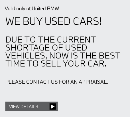 Valid only at United BMW: Pads and rotors per axle $100 off.