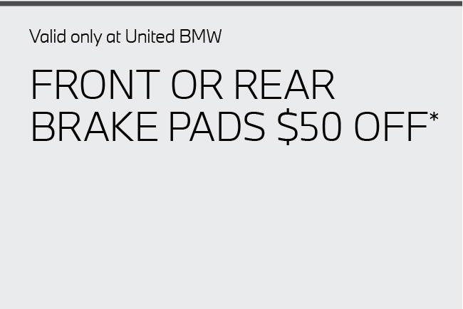 Front or rear brake pads $50 off.