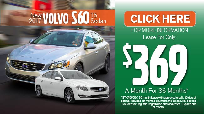 New 2016 Volvo S60 T5 Drive E Platinum Series. $306 a month for 36 months after $3500 due at signing.