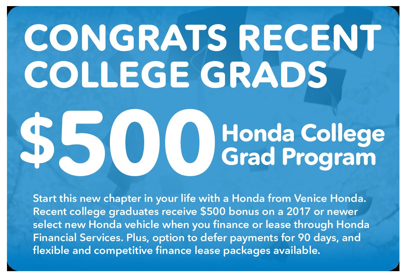 Honda Graduate Program At Venice Honda In Florida