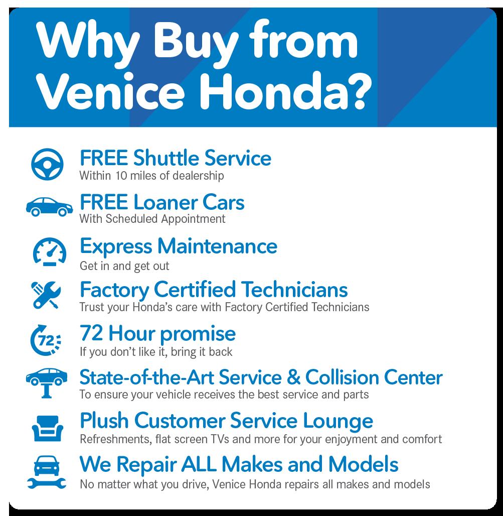 Why Buy from Venice Honda?